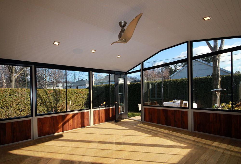 veranda avec muret solarium saisons avec toiture isole. Black Bedroom Furniture Sets. Home Design Ideas