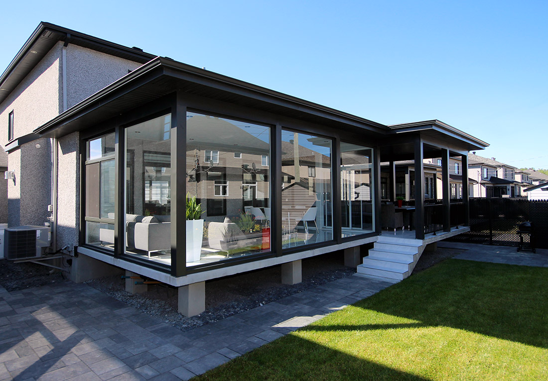 Abri Veranda Pour Spa sunroom and veranda achievements gallery - véranda plus