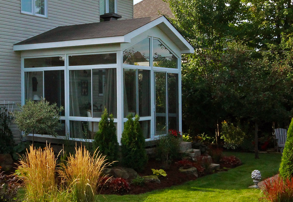 sunroom with insulated roof